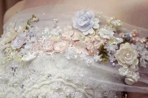 【MT名堂高级婚纱礼服】自然花朵高定美纱鉴赏