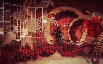 【印象派】大气奢华红色中国风主题《夏合唐》
