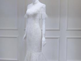 优雅复古鱼尾婚纱