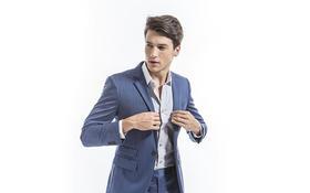 【铂纶西服定制】蓝色优雅绅士西服