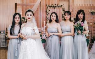 新娘婚纱礼服全套租赁(出门+婚纱+敬酒+跟妆)