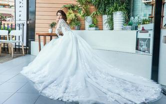 【洛菲莎】高级定制大拖尾婚纱租赁3件套