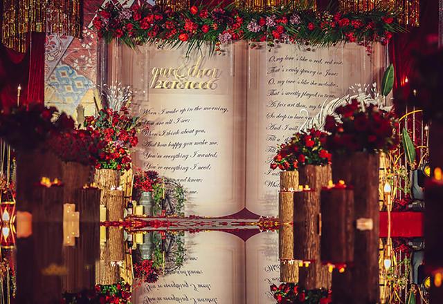 红金美式复古奢华大气田园风婚礼