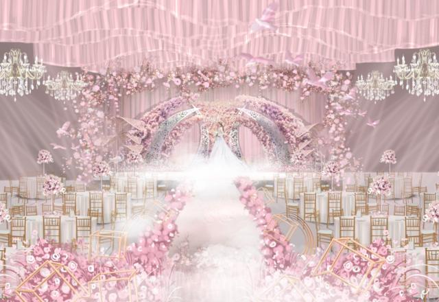 【凡熙婚礼策划】-粉色繁花(内含资深四大)