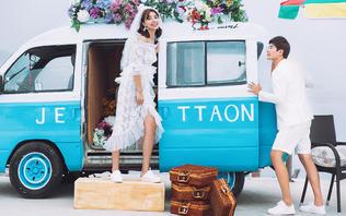 芭莎新娘婚纱摄影团购特惠套系拍照区服装任选