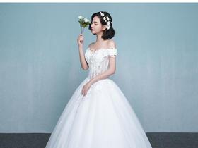 【蒂尔镇店主纱】手工定珠蕾丝气质主纱+精美伴娘服