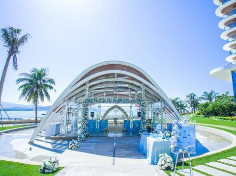 特色鲜花浪漫海岛教堂婚礼