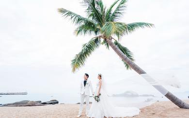 圣卡罗旅拍三亚站婚纱照客片