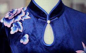 【 帝安娜婚纱】藏蓝绣花妈妈装