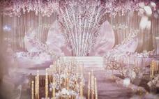 雅媛婚礼策划 《其心可见》淡粉色香槟色的撞击