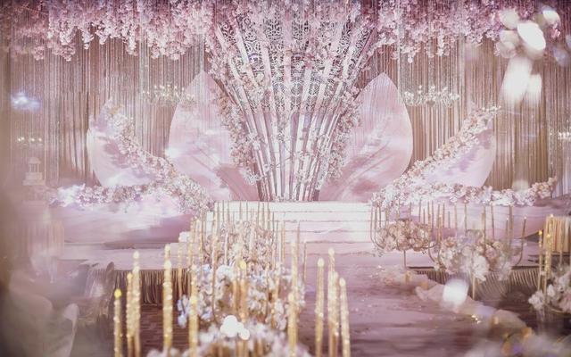 意匠婚礼策划 《其心可见》淡粉色香槟色的撞击