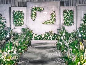 【高级灰+清新绿 婚礼布置】优雅纯净的高级灰搭配清新自然绿