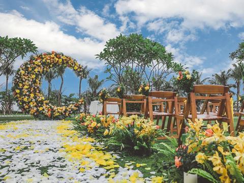 三亚婚礼 | 橙月 纯场景布置 超高性价比之选