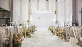 和韵 · 初心  白色、橘色 清新室内婚礼