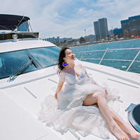 大连水上豪华游艇婚纱旅拍