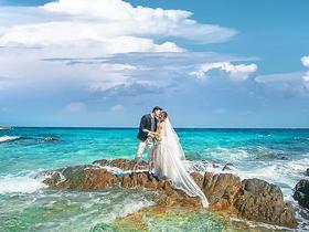 青岛罗薇婚纱摄影工作室海景个性水下婚纱照团购