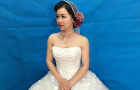 【皇妃嫁衣】复古波纹短头纱造型