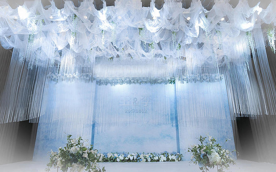 蓝色小清新婚礼夏季的首选