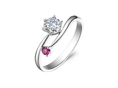 【爱的流星】50分VVS钻石戒指18K金