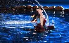 青岛爱蜜月婚纱摄影水下夜景游艇出海总监掌镜