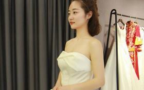 韩式奢华纯手工齐地出门纱+拖尾仪式纱+时尚敬酒服