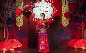 桃花轻扇 中式婚礼