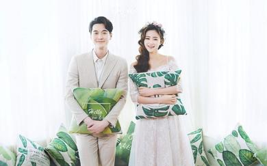 极尽简约的风格韩式婚纱照
