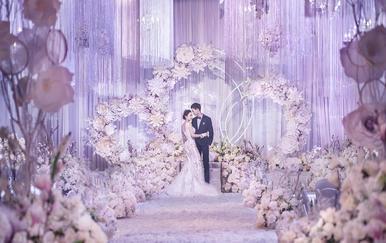 【蓝戒指婚庆】-尊悦豪生酒店#紫色#时尚线帘
