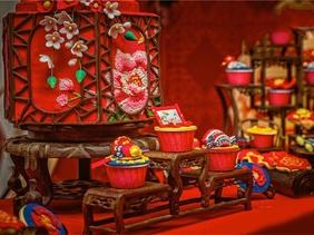 曲江国际会议中心中式婚礼布置
