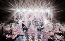 【雅媛婚礼】18年大热香槟粉吊顶线帘梦幻超炫灯光