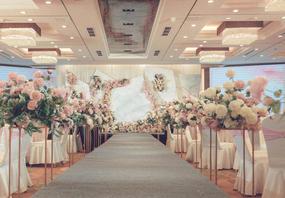 大理石粉色灰色简约风小清新婚礼