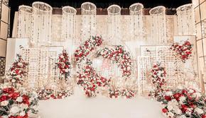 大家都喜欢的优雅香槟色新中式婚礼