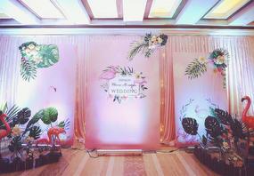 【婚礼那点事】火烈鸟森林系+四大人员+全布置