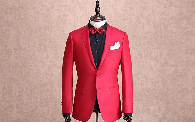 红领西服高级定制—大红色两粒扣