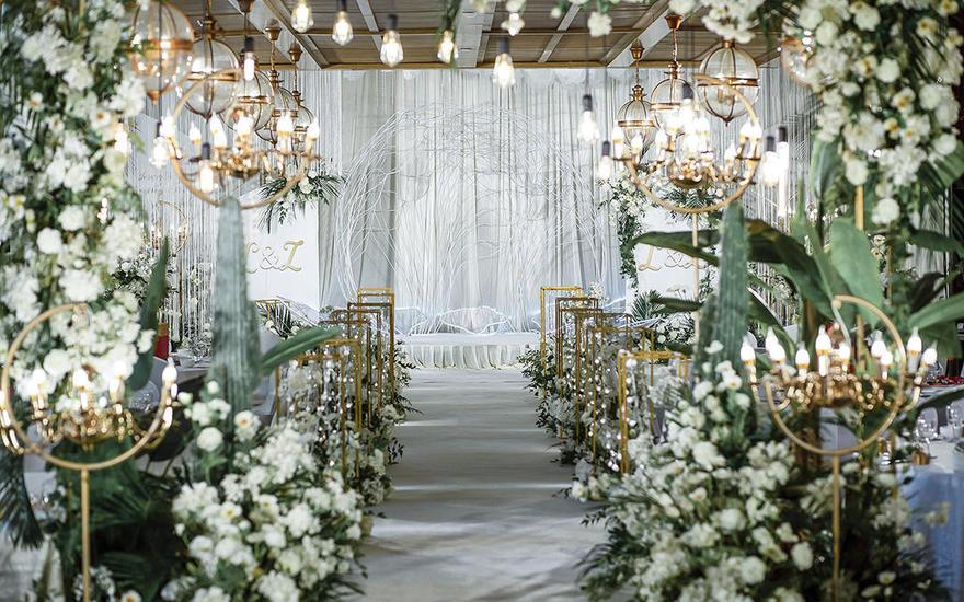 白绿色森系婚礼|时光婚礼