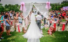 清新!飞行员夫妇的浪漫草坪婚礼