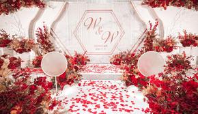 【爆款】本季热卖 超高性价比小预算红白主题婚礼