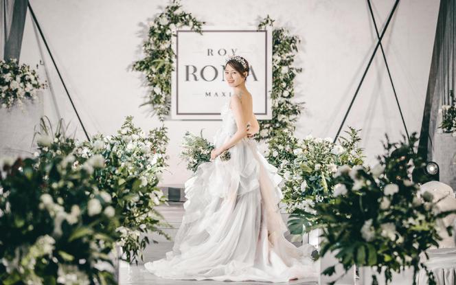 北欧极简  白绿森系 简约主题婚礼