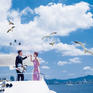机票补贴一千+4晚海景酒店+服装不限套拍+送旅游
