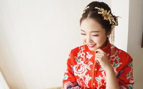 欣薇老师试妆+小家碧玉秀禾褂