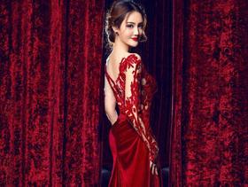 新款红色晚礼服【单租】