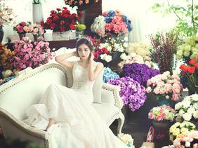 韩国艺匠玫瑰花园唯美婚纱照