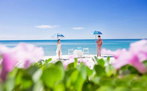 聚焦全球旅拍婚纱摄影(三亚店)浪漫海景沙滩夕阳