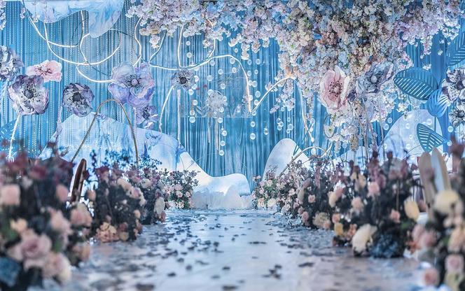 【伯妮婚礼】浪漫水晶色唯美婚礼 折扣专享