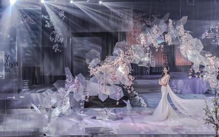 DNA |【浦东星河湾】「粉白」雪花唯美浪漫婚礼
