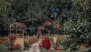 初秋 红色法式浪漫 户外婚礼  私人定制