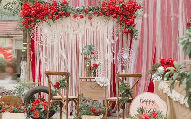 【述说婚礼】户外婚礼 红色花园