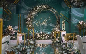 墨绿色 北欧 简约时尚 创意 ing风 小型婚礼