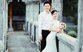 iwedding新娘「B&W」高腰线蕾丝婚纱