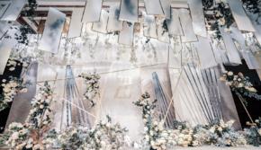 【喜相逢】柔和现代风婚礼  点线面的极简设计